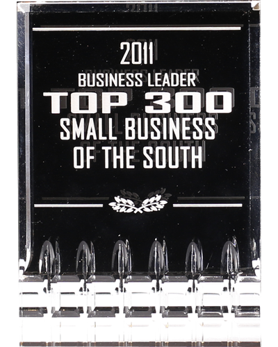 Image, Recognition amongst TOP 300 small businesses of the south by Business Leader. - 2011