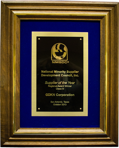Image, Supplier of the Year by National Minority Supplier Development Council - 2013